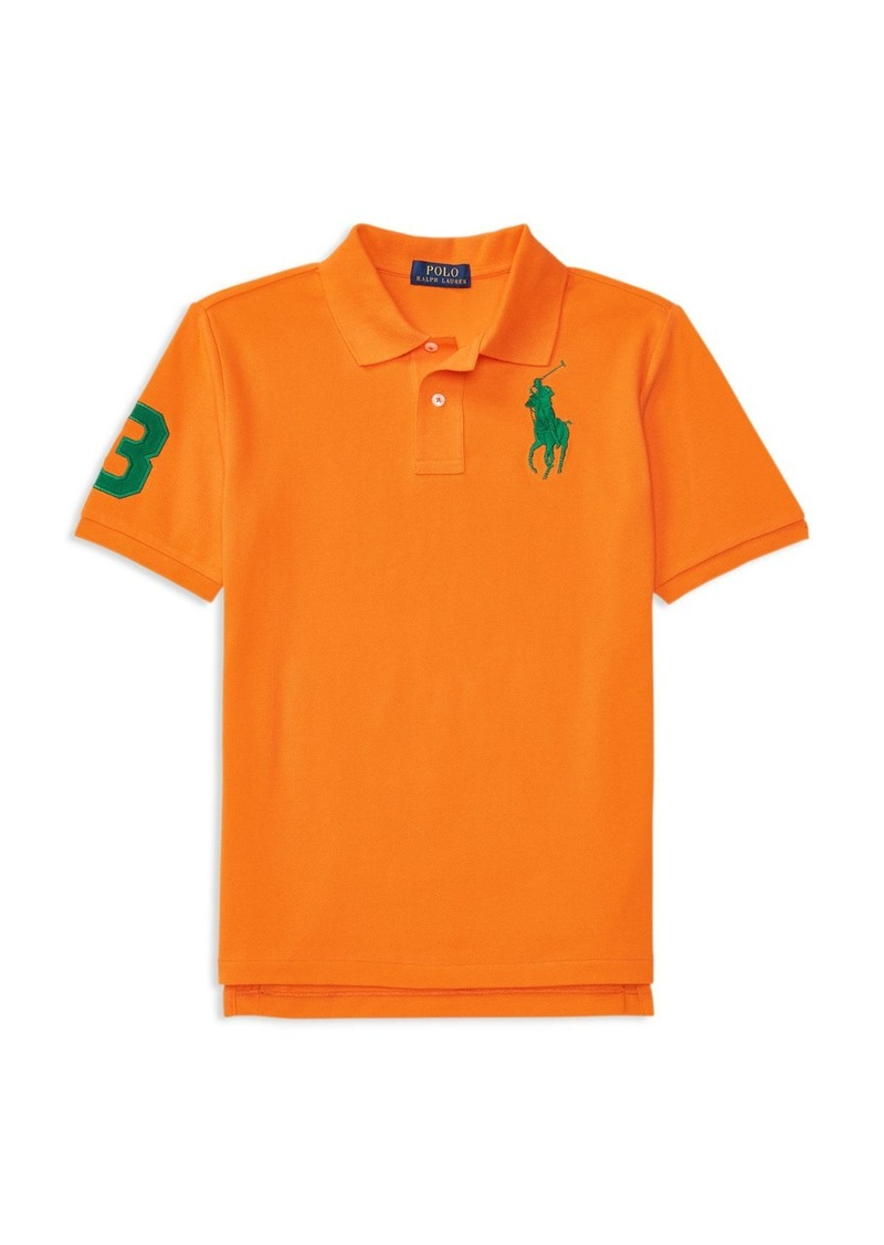 Ralph Lauren Childrenswear Boys' Big Pony Mesh Polo Shirt - Big Kid