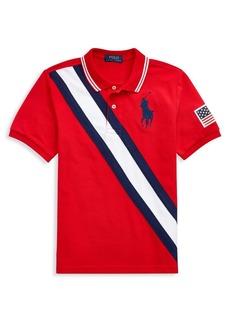 Ralph Lauren Childrenswear Boy's Big Pony Mesh Polo Shirt