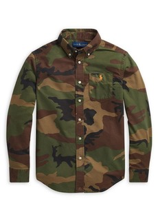 Ralph Lauren Childrenswear Boy's Camouflage Cotton Oxford Shirt