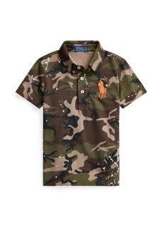 Ralph Lauren Childrenswear Boy's Camouflage Short-Sleeve Polo Shirt  Size 2-4
