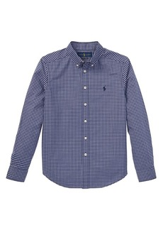 Ralph Lauren Childrenswear Boy's Checkered Poplin Shirt