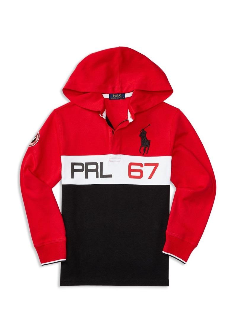 Ralph Lauren Childrenswear Boys' Colorblock Rugby Hoodie - Sizes S-XL