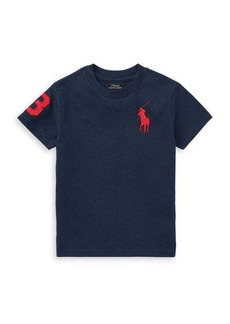 Ralph Lauren Childrenswear Boy's Cotton Jersey Crewneck Tee