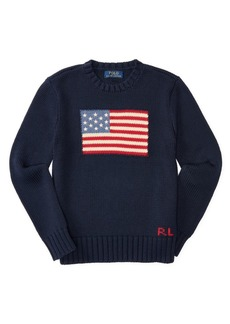 Ralph Lauren Childrenswear Boy's Crewneck Flag Sweater