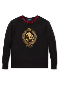 Ralph Lauren Childrenswear Boy's Crown Embroidered Fleece Sweatshirt