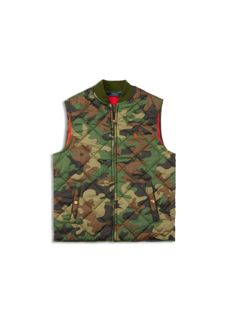 Ralph Lauren Childrenswear Boys' Diamond Quilted Camo Vest - Sizes S-XL