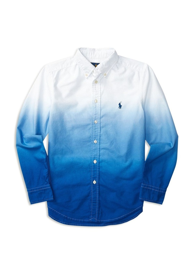 Ralph Lauren Childrenswear Boys' Dip Dyed Woven Shirt - Sizes S-XL