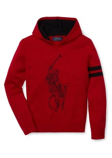 Ralph Lauren Childrenswear Boy's Embroidered Merino Wool Hoodie
