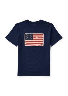 Ralph Lauren Childrenswear Boy's Flag Cotton Jersey Tee