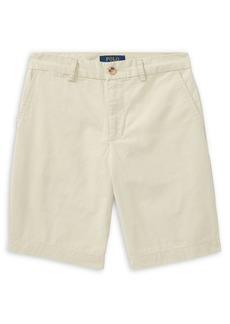 Ralph Lauren Childrenswear Boy's Flat Front Chino Shorts