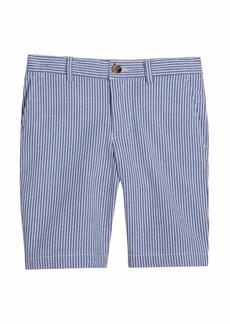 Ralph Lauren Childrenswear Boy's Flat-Front Seersucker Shorts  Size 8-10