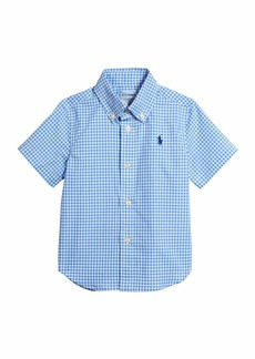 Ralph Lauren Childrenswear Boy's Gingham Short-Sleeve Cotton Shirt  Size 9-24M