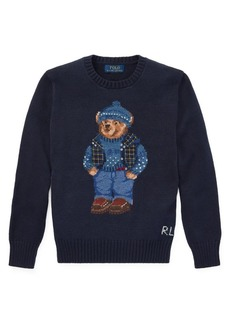 Ralph Lauren Childrenswear Boy's Graphic Cotton & Wool Sweater