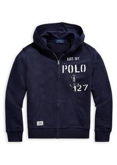 Ralph Lauren Childrenswear Boy's Graphic Cotton Hoodie