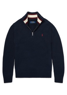 Ralph Lauren Childrenswear Little Boy's & Boy's Half-Zip Cotton Sweater