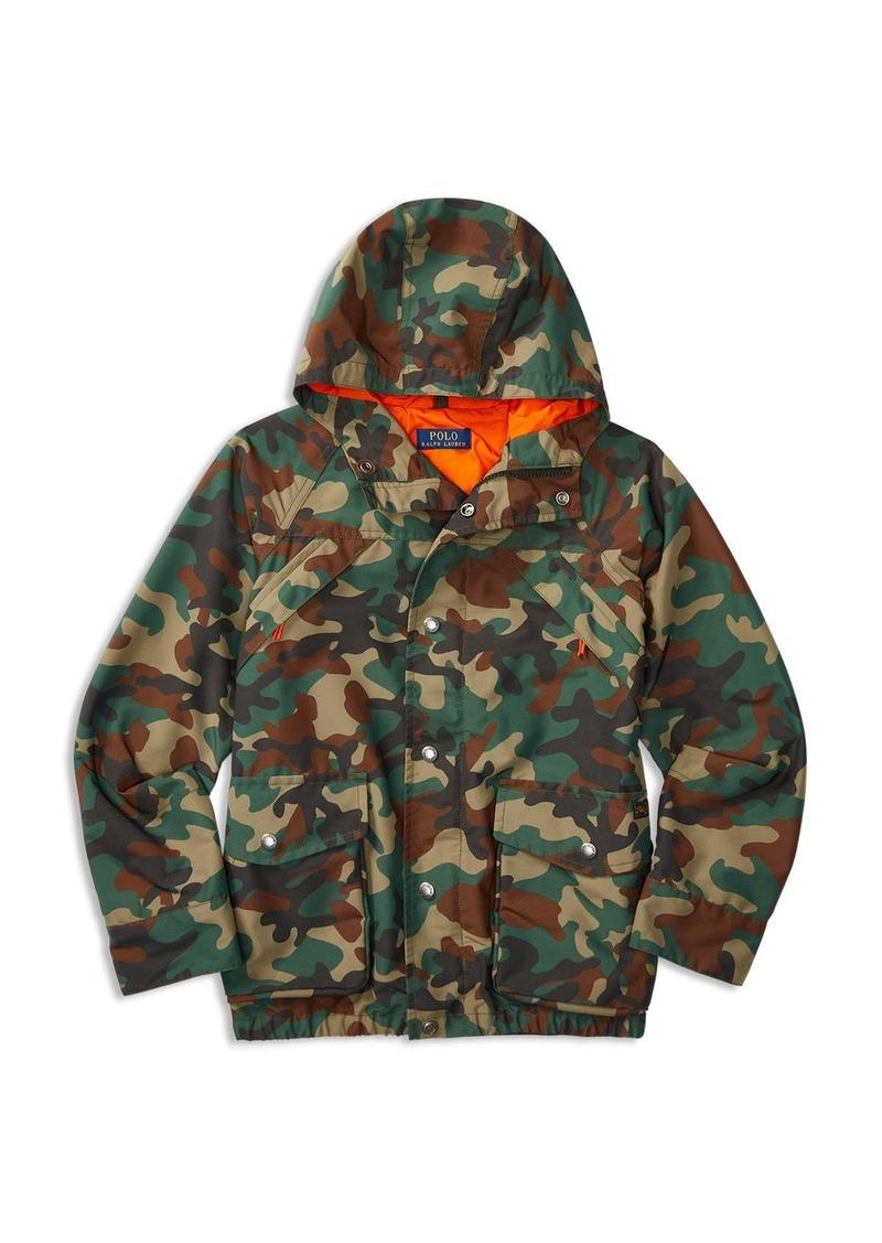 Ralph Lauren Childrenswear Boys' Hooded Camo Jacket - Sizes S-XL