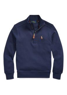 Ralph Lauren Childrenswear Boy's Interlock Cotton Half-Zip Pullover  Size 2-4
