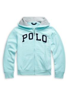 Ralph Lauren Childrenswear Boy's Logo Cotton-Blend Hooded Jacket