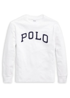 Ralph Lauren Childrenswear Boy's Logo Cotton Long-Sleeve Tee