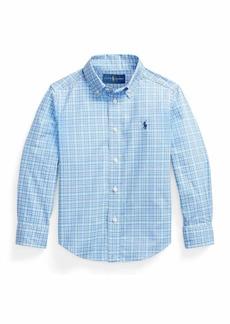 Ralph Lauren Childrenswear Boy's Logo Embroidered Button-Down Plaid Shirt  Size 5-7