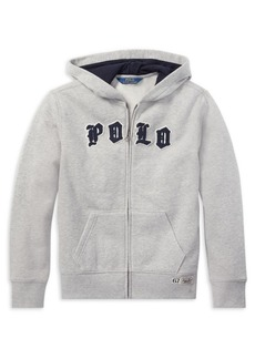 Ralph Lauren Childrenswear Boy's Logo Full-Zip Hoodie