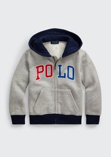 Ralph Lauren Childrenswear Boy's Logo Print Fleece Hoodie  Size 5-7
