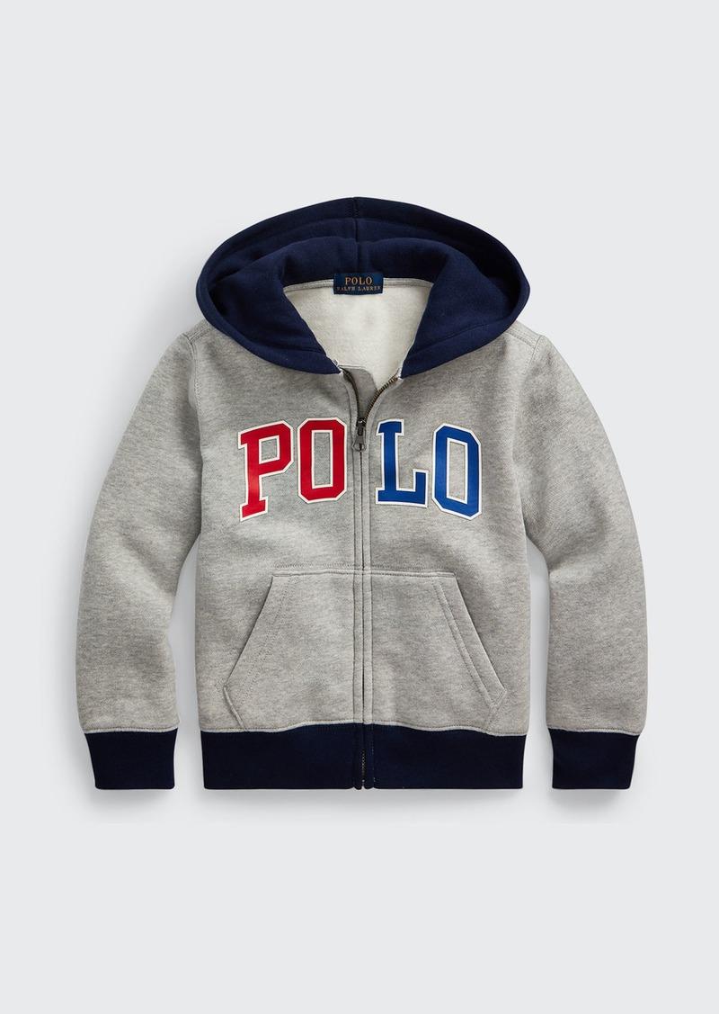Ralph Lauren Childrenswear Boy's Logo Print Fleece Knit Hoodie  Size 2-4