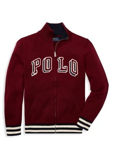 Ralph Lauren Childrenswear Boy's Logo Zip Sweater