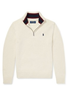 Ralph Lauren Childrenswear Boy's Long-Sleeve Cotton Sweater