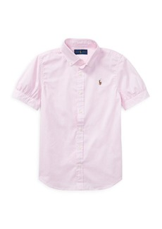 Ralph Lauren Childrenswear Girl's Cotton Oxford Shirt