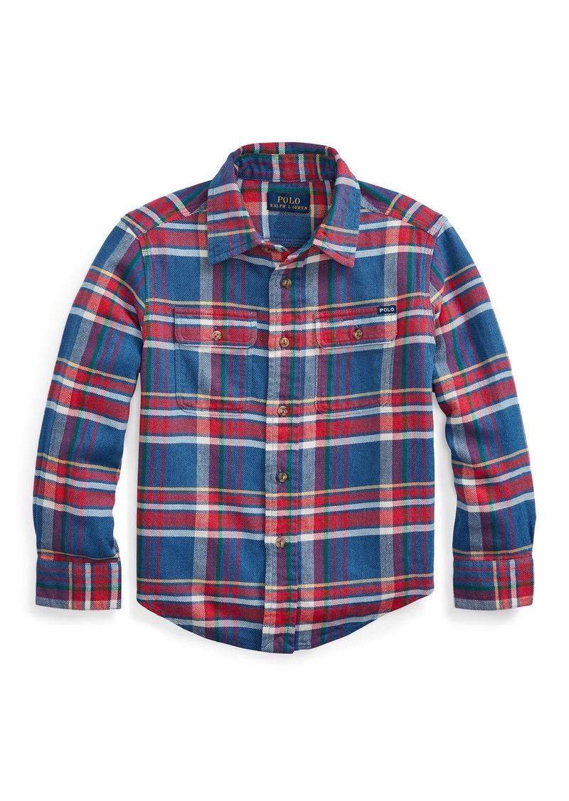 Ralph Lauren Childrenswear Boy's Plaid Button-Down Shirt  Size 2-4