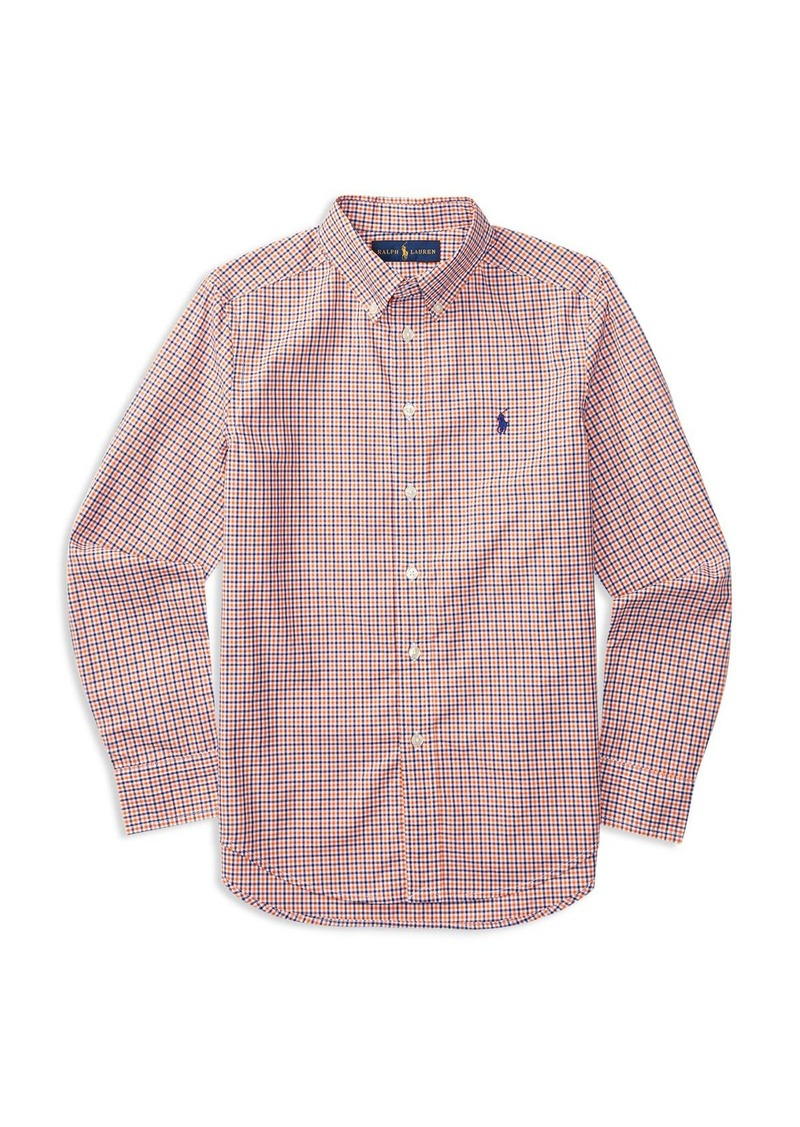 Ralph Lauren Childrenswear Boys' Plaid Poplin Shirt - Sizes S-XL