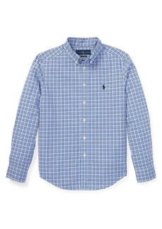 Ralph Lauren Childrenswear Boy's Plaid Poplin Shirt