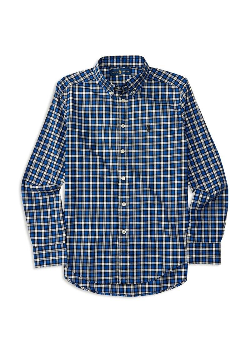 Ralph Lauren Childrenswear Boys' Plaid Twill Shirt - Sizes S-XL