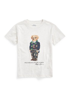 Ralph Lauren Childrenswear Boy's Polo Bear Printed Short-Sleeve Shirt  Size 5-7