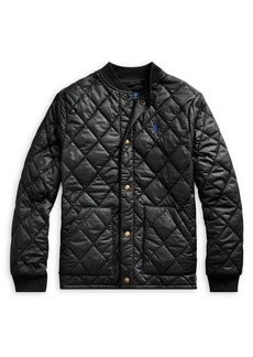 Ralph Lauren Childrenswear Boy's Quilted Water-Repellent Cotton-Blend Jacket