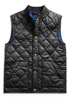 Ralph Lauren Childrenswear Boy's Quilted Water-Repellent Vest