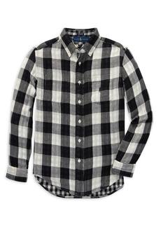Ralph Lauren Childrenswear Little Boy's & Boy's Reversible Plaid Cotton Button-Down Shirt