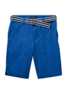 Ralph Lauren Childrenswear Boy's Slim-Fit Belted Stretch Shorts