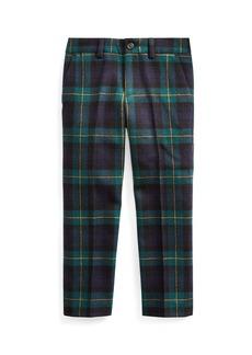 Ralph Lauren Childrenswear Boy's Slim Fit Twill Wool Plaid Pants  Size 5-7