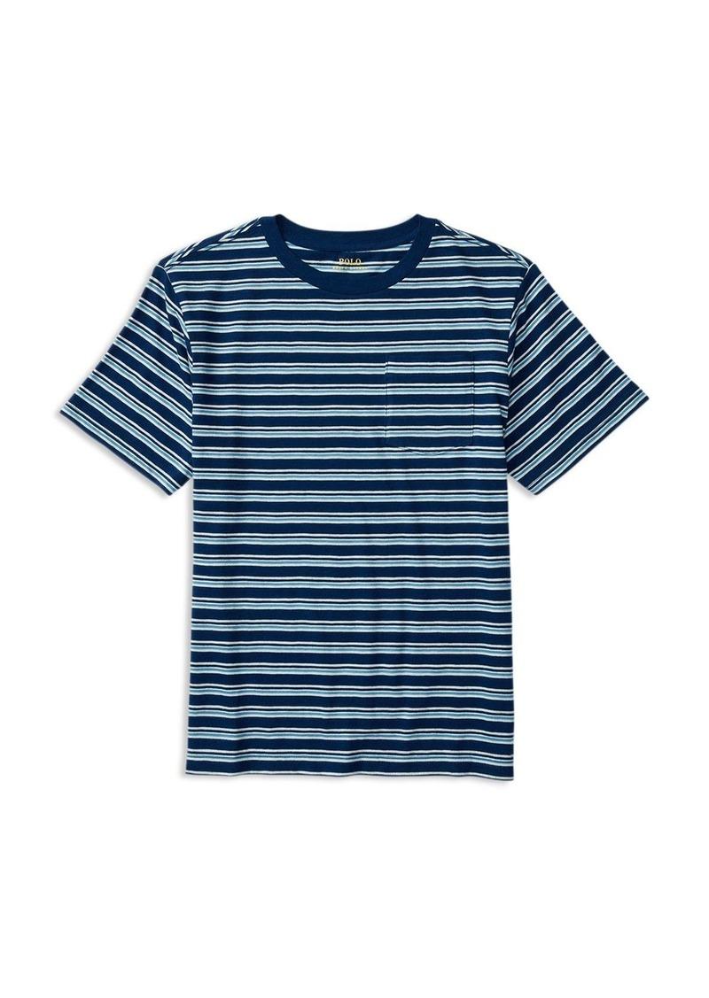 Ralph Lauren Childrenswear Boys' Slub Jersey Stripe Tee - Sizes S-XL