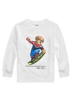Ralph Lauren Childrenswear Boy's Snowboard Polo Bear Long-Sleeve Tee  Size 5-7