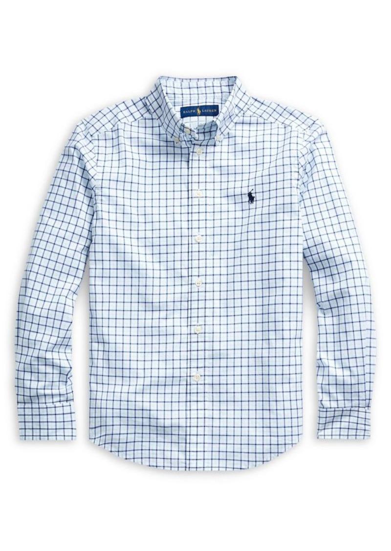 Ralph Lauren Childrenswear Boy's Stretch-Cotton Poplin Shirt