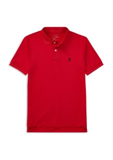 Ralph Lauren Polo Polo Ralph Lauren Boys' Stretch Lisle Solid Polo Shirt - Big Kid