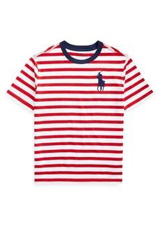 Ralph Lauren Childrenswear Boy's Striped Cotton Jersey Tee