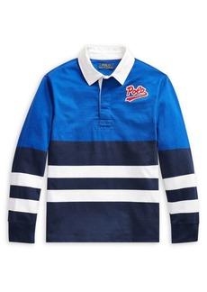 Ralph Lauren Childrenswear Boy's Striped Cotton Rugby Shirt