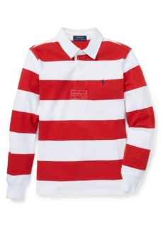 Ralph Lauren Childrenswear Boy's Striped Cotton Rugby Shirt