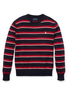 Ralph Lauren Childrenswear Boy's Striped Cotton Sweater