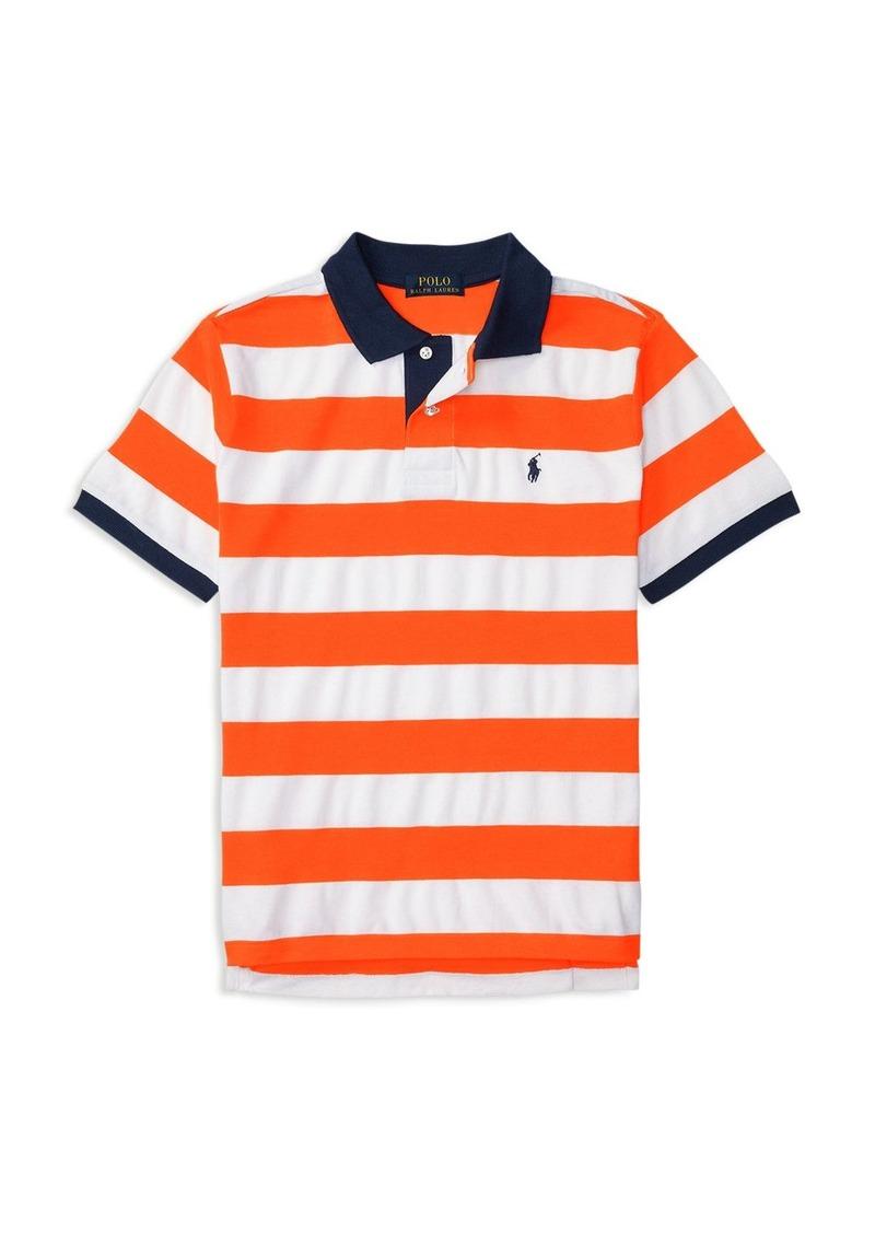 Ralph Lauren Childrenswear Boys' Striped Mesh Polo Shirt - Sizes S-XL