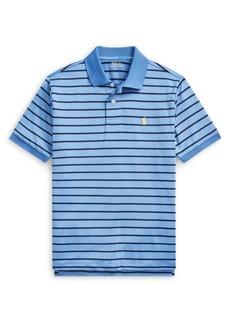 Ralph Lauren Childrenswear Boy's Striped Performance Jersey Polo